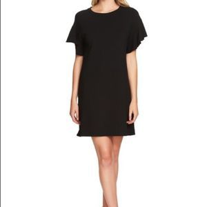 1 State French Terry Ruffle Sleeve T-shirt Dress